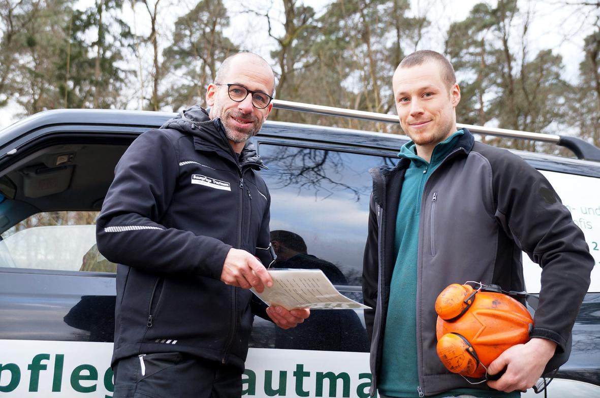 Oliver Trautmann und Manuel Thumm, Fachleute für Baumpflege